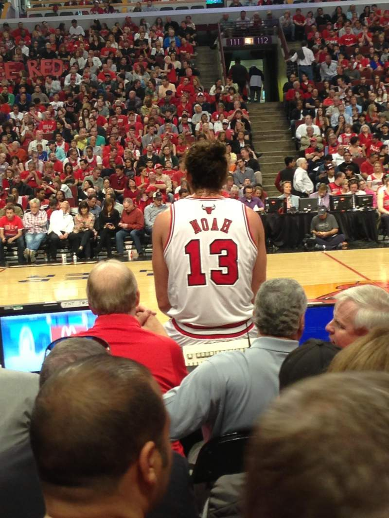 Seating view for United Center Section 101 Row 2 Seat 3