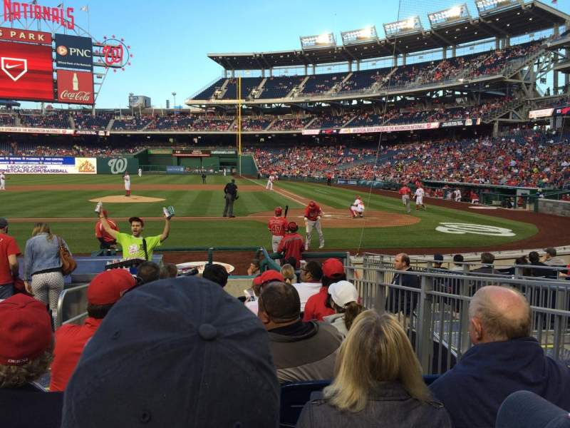 Seating view for Nationals Park Section 118 Row M Seat 7