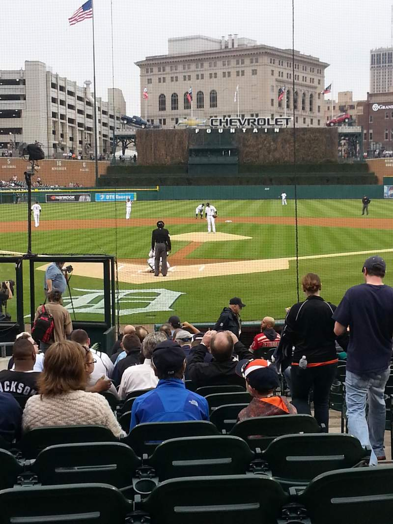 Seating view for Comerica Park Section 127 Row 19 Seat 4