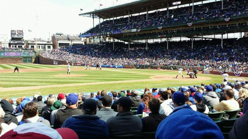 Seating view for Wrigley Field Section 114 Row 2 Seat 107