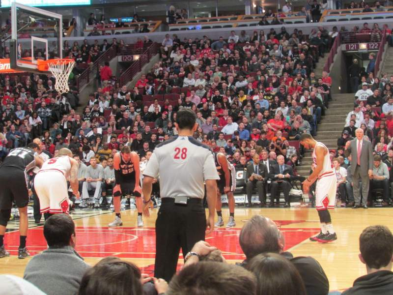 Seating view for United Center Section 112 Row 2 Seat 9