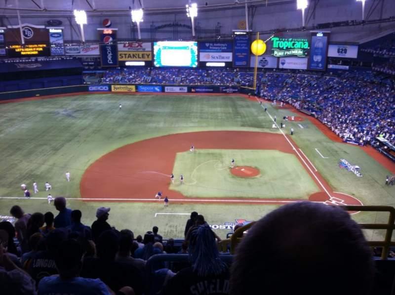 Tropicana Field, section: 311, row: Q, seat: 23