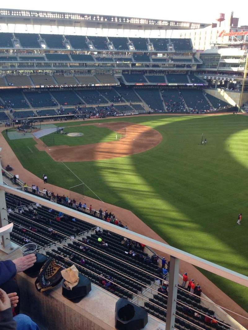 Seating view for Target Field Section 201 Row 3 Seat 23