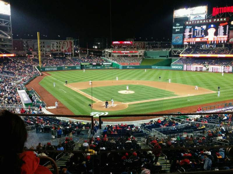 Seating view for Nationals Park Section 215 Row B Seat 6