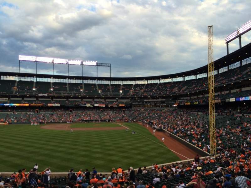 Seating view for Oriole Park at Camden Yards Section 81 Row 2 Seat 10