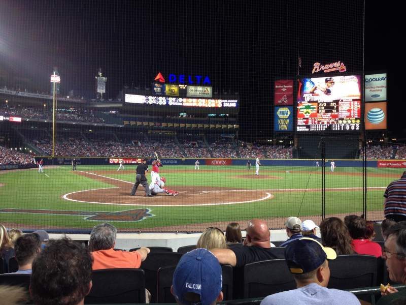 Seating view for Turner Field Section 105 Row 4 Seat 108