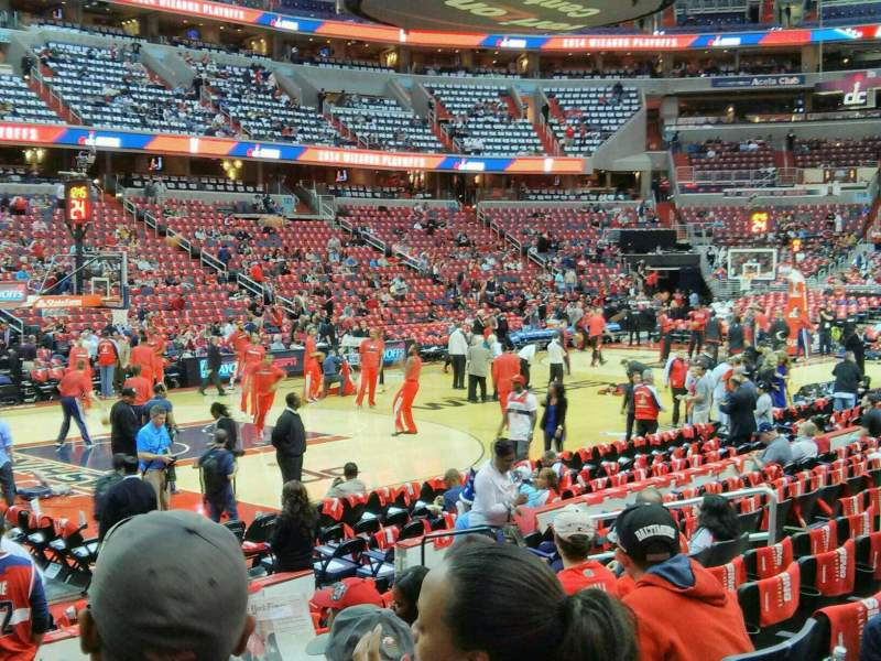 Seating view for Capital One Arena Section 109 Row L Seat 2