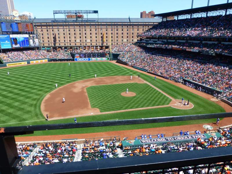 Seating view for Oriole Park at Camden Yards Section 354 Row 1 Seat 11