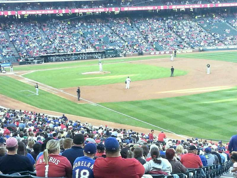 Seating view for Globe Life Park in Arlington Section 40 Row 44 Seat 1