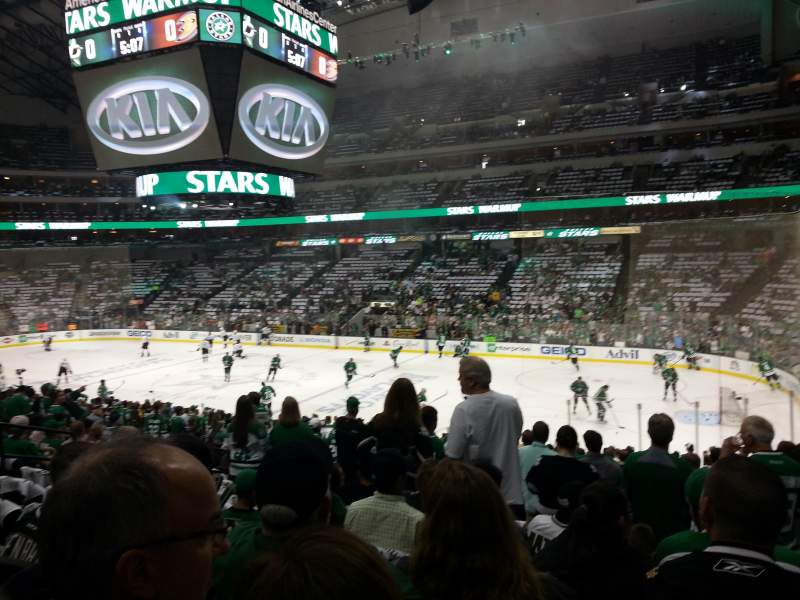 Seating view for American Airlines Center Section 104 Row X Seat 10