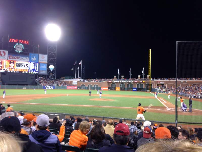 Seating view for AT&T Park Section 121 Row I Seat 6