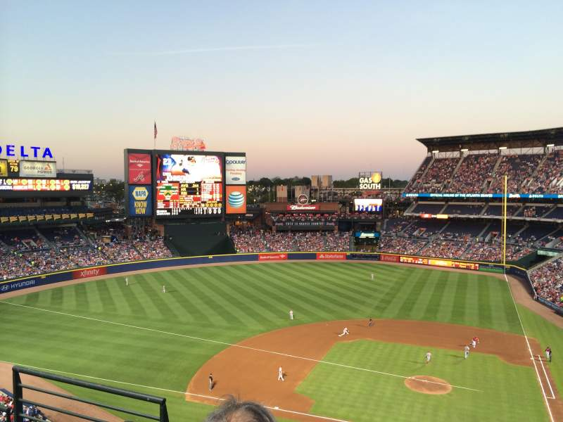 Seating view for Turner Field Section 410R Row 3 Seat 3