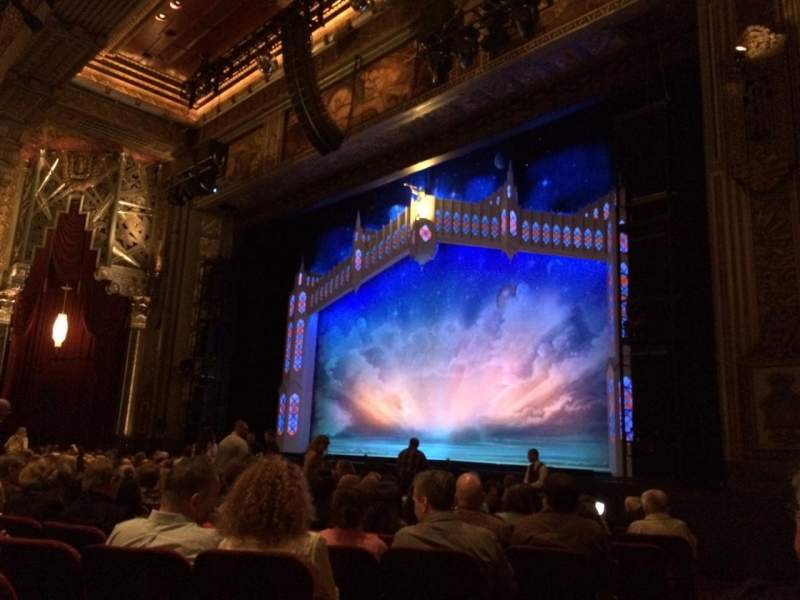 Seating view for Pantages Theatre (Hollywood) Section Orchestra R Row P Seat 4