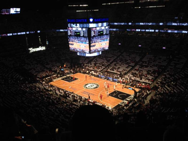 Seating view for Barclays Center Section 220 Row 13 Seat 16