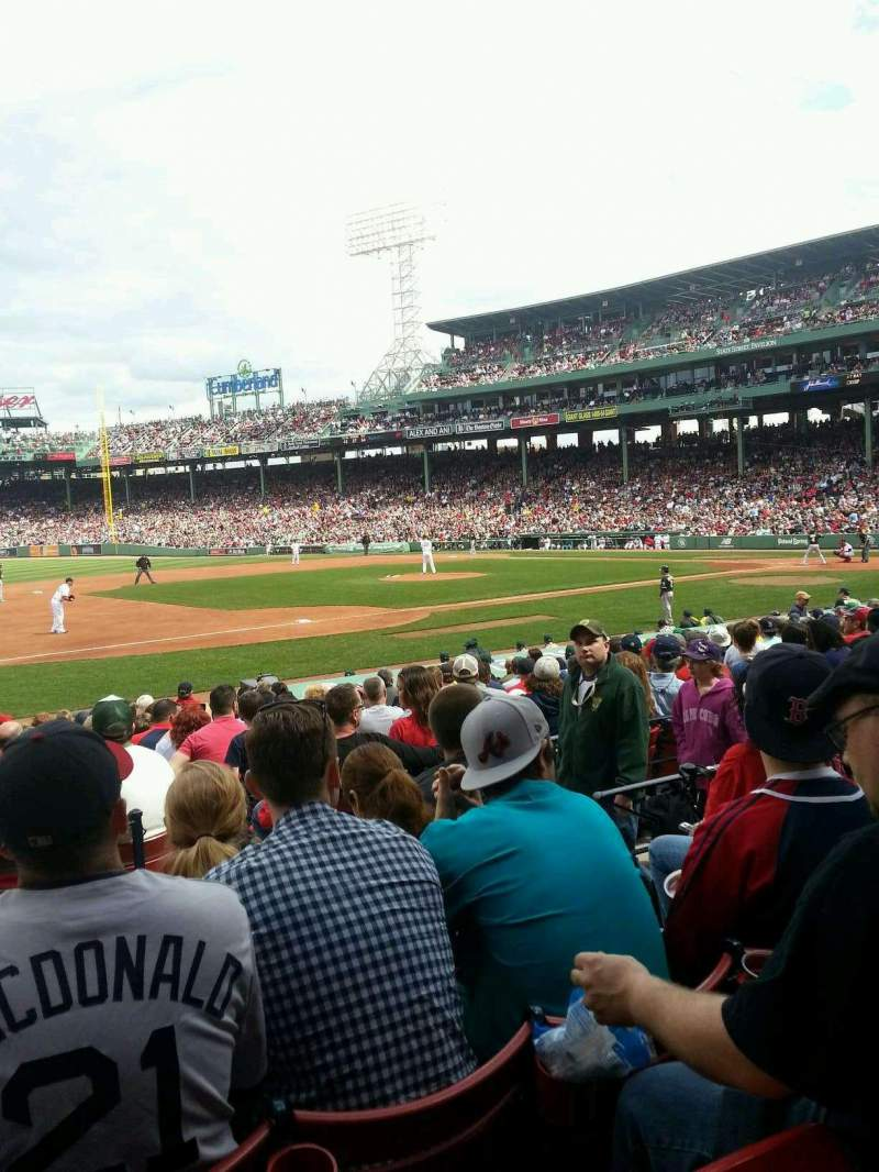 Seating view for Fenway Park Section Loge Box 155 Row DD Seat 5