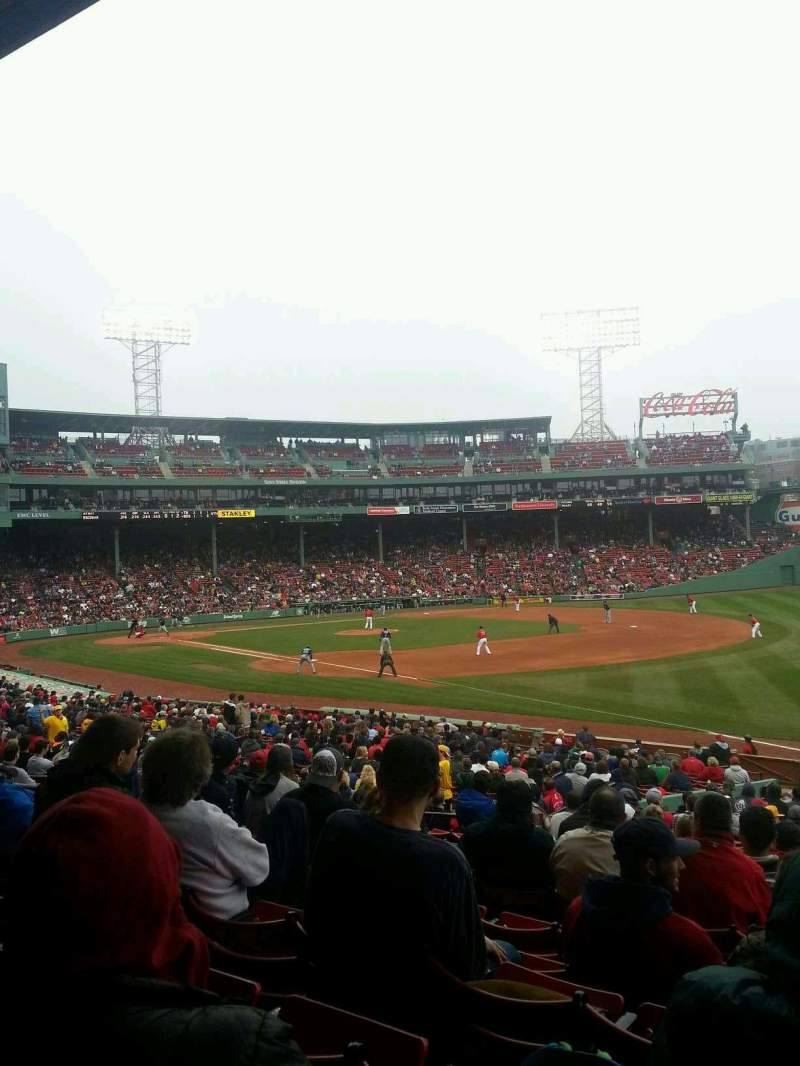 Seating view for Fenway Park Section Grandstand 10 Row 1 Seat 1