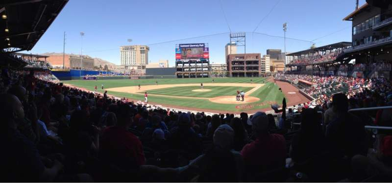 Seating view for Southwest University Park Section 114 Row U Seat 4