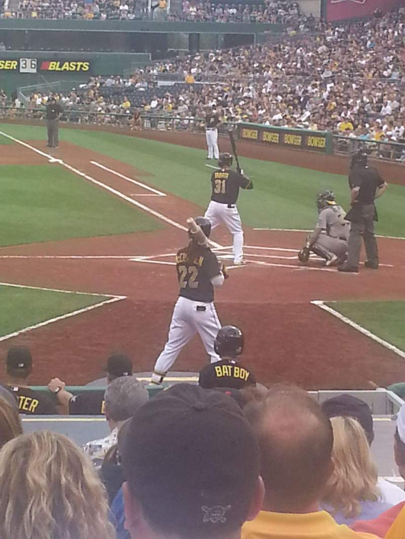 Seating view for PNC PARK Section 124 Row A Seat 7