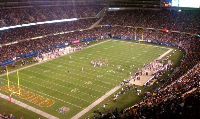 Seating view for Soldier Field Section 445 Row 25 Seat 5