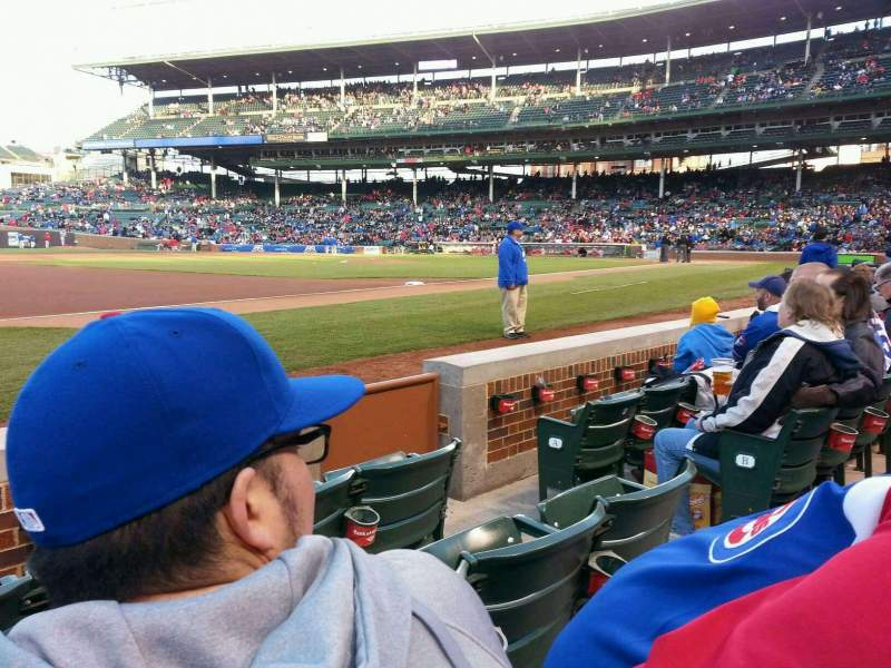 Seating view for Wrigley Field Section 10 Row 4 Seat 105