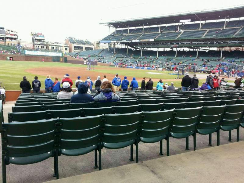 Seating view for Wrigley Field Section 110 Row 1 Seat 105