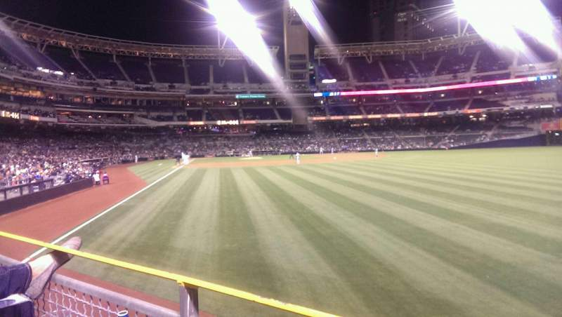 Seating view for PETCO Park Section 125 Row 1 Seat 15