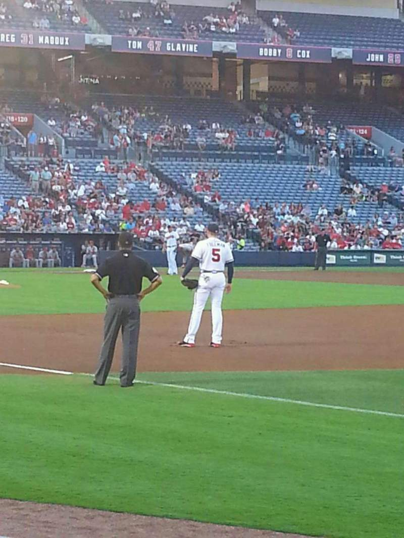 Seating view for Turner Field Section 119R Row 5 Seat 10