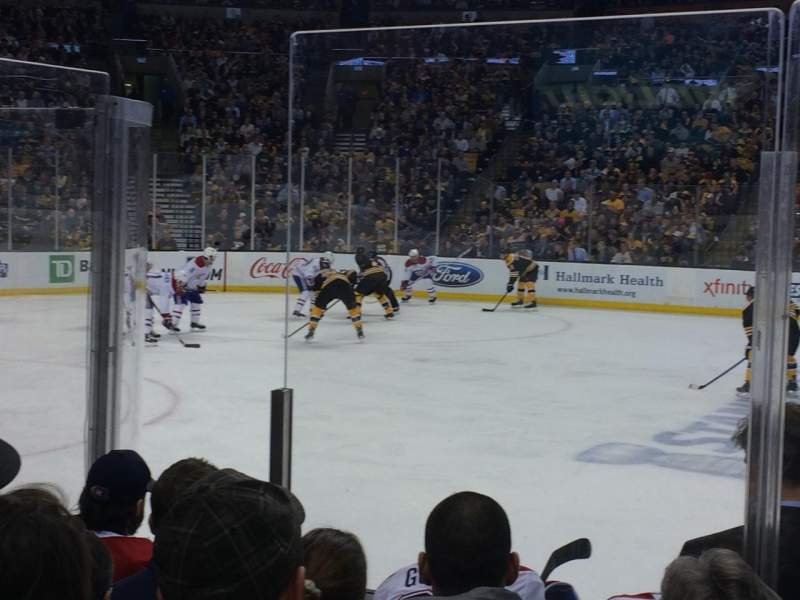 Seating view for TD Garden Section Loge 2 Row 6 Seat 6