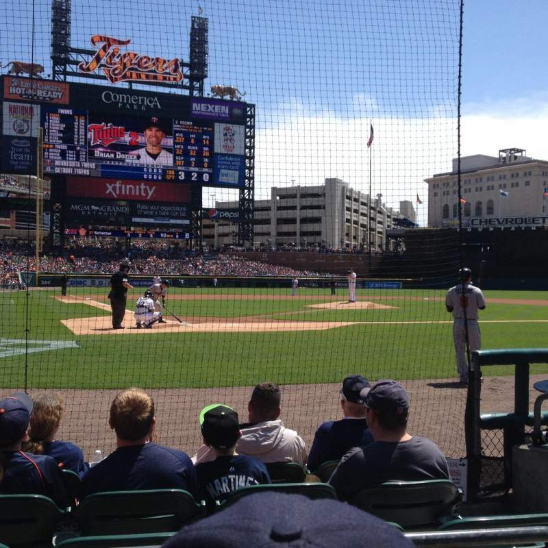 Seating view for Comerica Park Section 125 Row 6 Seat 3