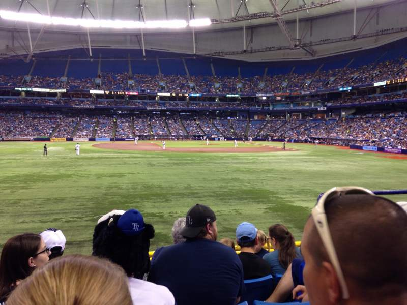 Seating view for Tropicana Field Section 145 Row X Seat 17