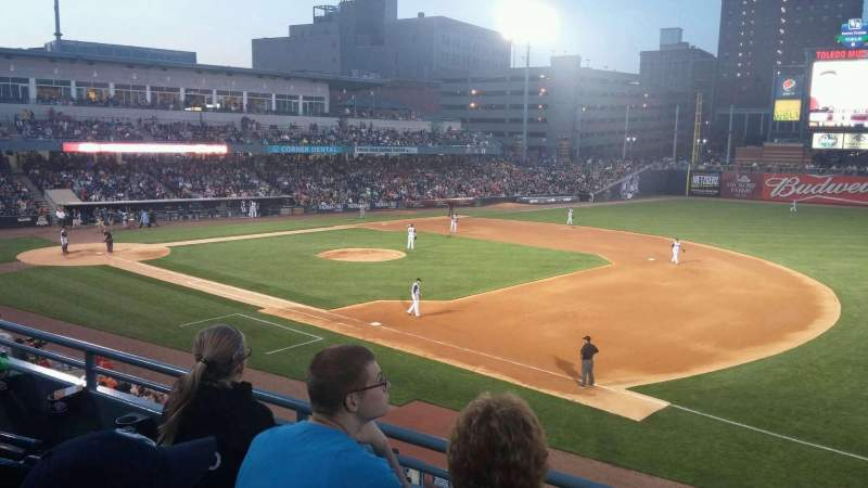 Seating view for Fifth Third Field Section 216 Row C Seat 7