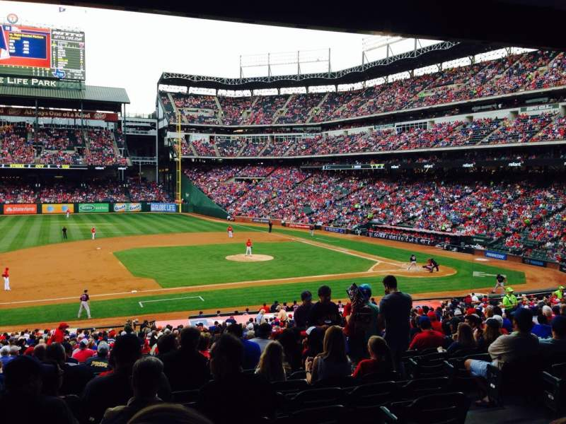 Seating view for Globe Life Park in Arlington Section 119 Row 34 Seat 5
