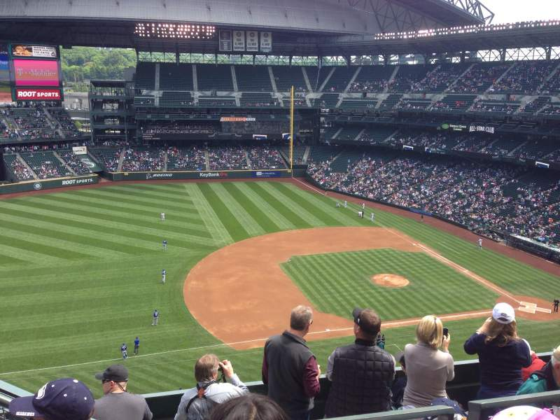 Seating view for Safeco Field Section 340 Row 10 Seat 19