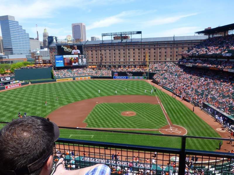Seating view for Oriole Park at Camden Yards Section 350 Row 2 Seat 7