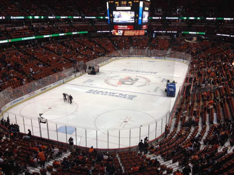 Seating view for Honda Center Section 420 Row A Seat 1