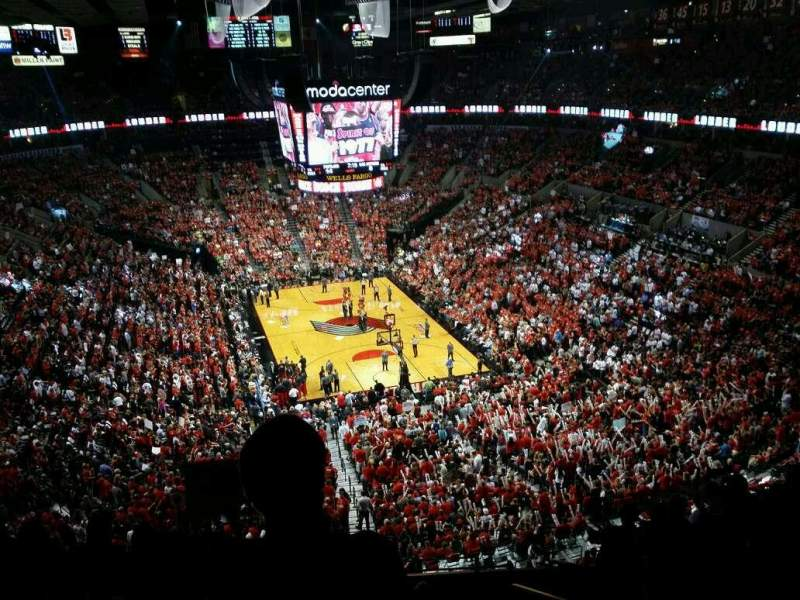 Seating view for Moda Center    Section 328 Row j Seat 4