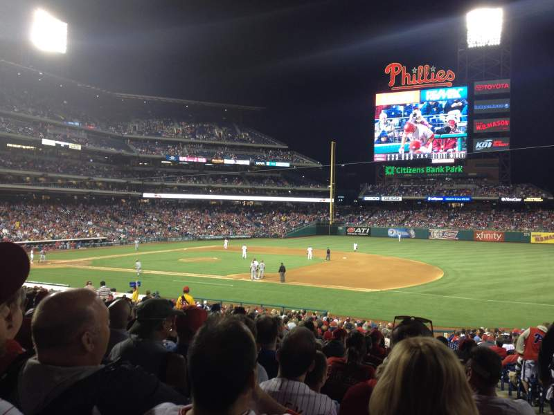 Seating view for Citizens Bank Park Section 114 Row 33 Seat 2