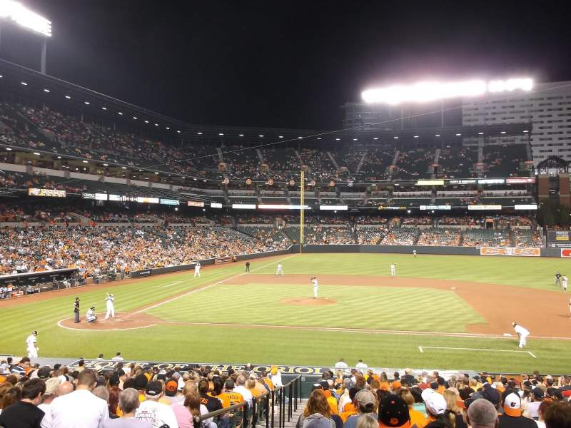 Seating view for Oriole Park at Camden Yards Section 22 Row 22 Seat 12 TO 8