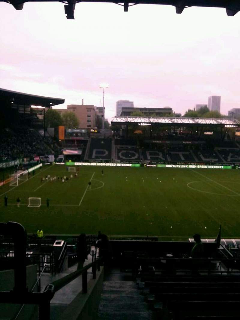 Seating view for Providence Park Section 216 Row K Seat 3