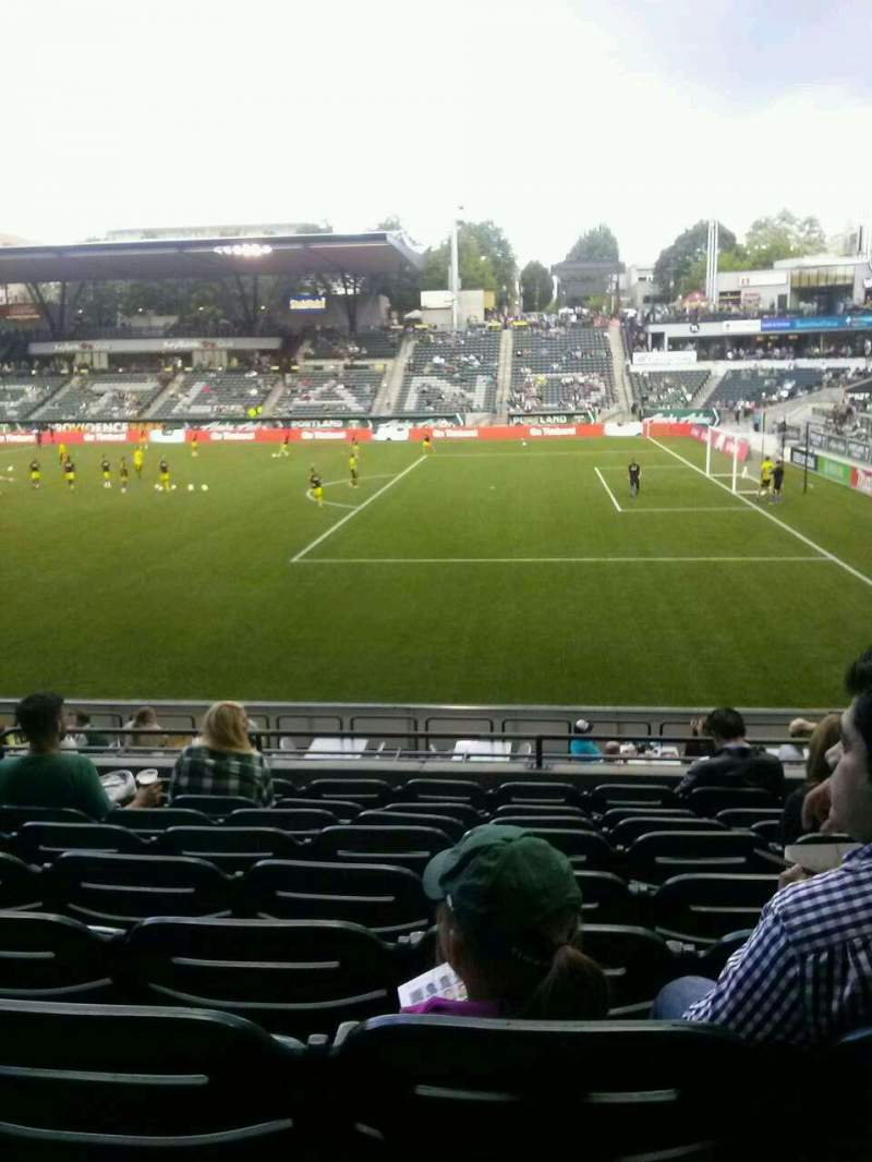 Seating view for Providence Park Section 121 Row I Seat 13