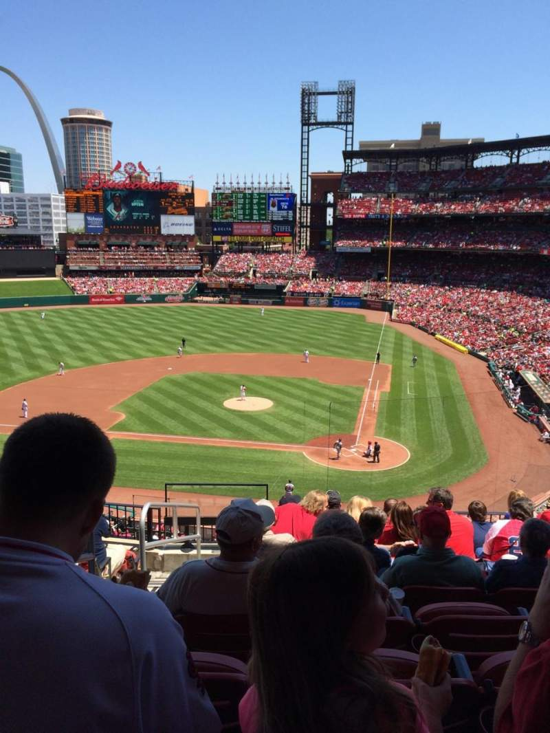 Busch Stadium, section 253, home of St. Louis Cardinals
