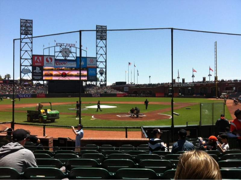 Seating view for AT&T Park Section 117 Row G Seat 7