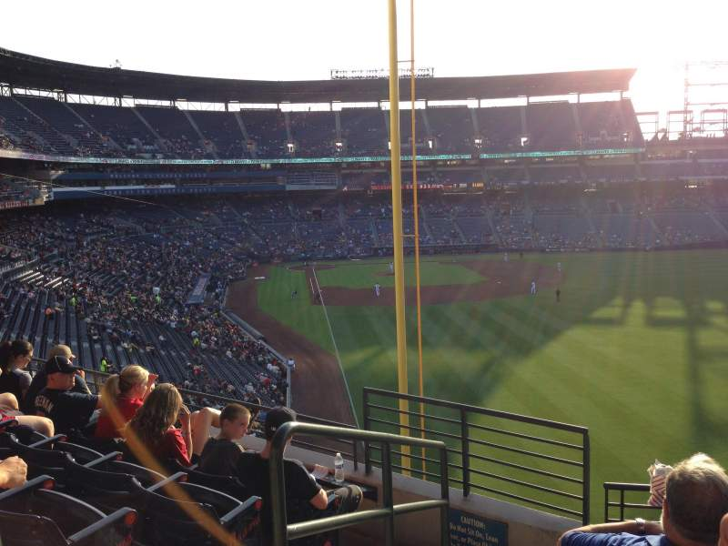 Seating view for Turner Field Section 331 Row 5 Seat 1