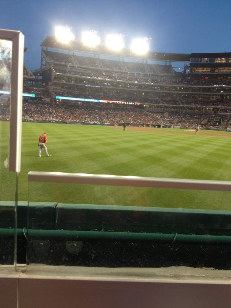 Seating view for Nationals Park Section 140 Row A Seat 20