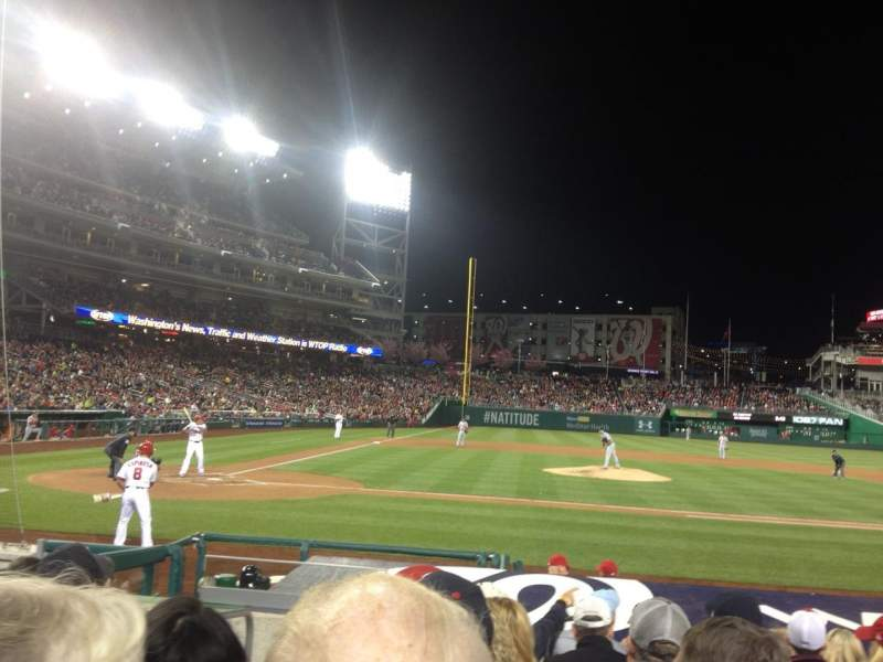 Seating view for Nationals Park Section 128 Row K