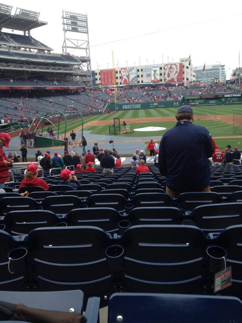 Seating view for Nationals Park Section 127 Row CC