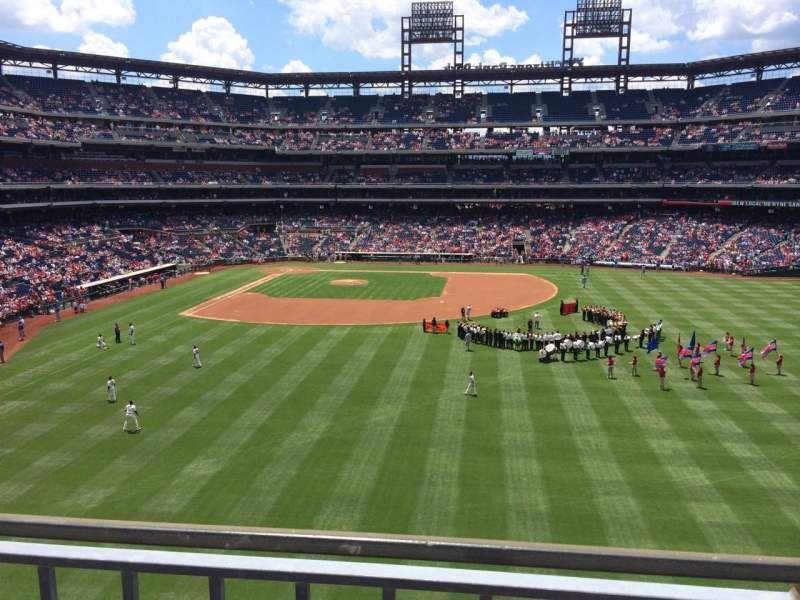 Seating view for Citizens Bank Park Section 203 Row 1 Seat 1
