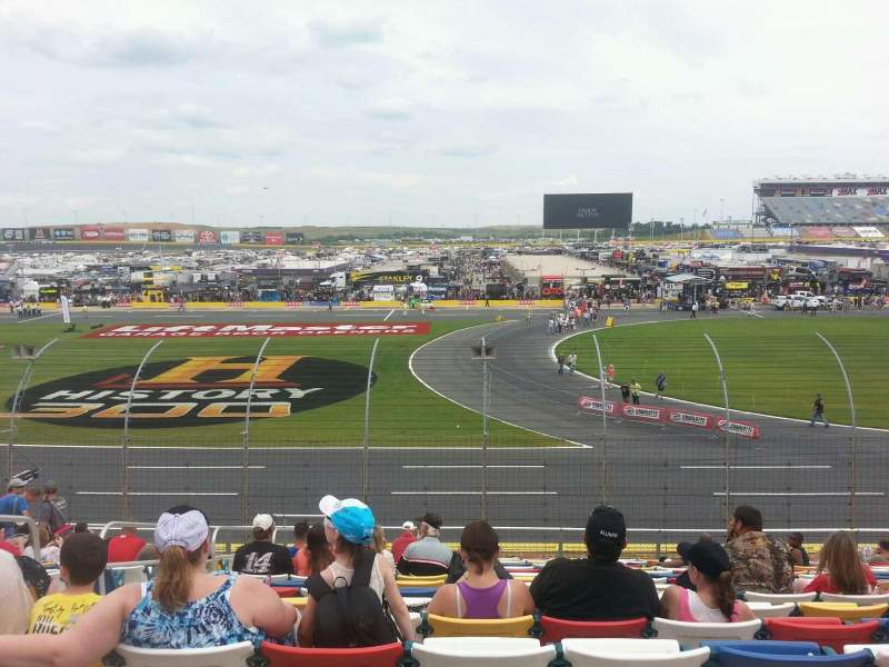 Seating view for Charlotte Motor Speedway Section GM Row 20 Seat 34