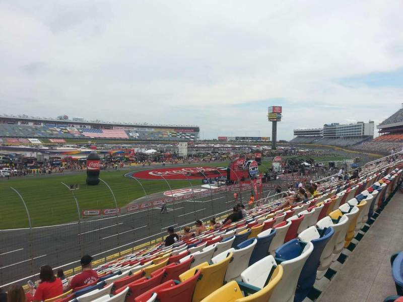 Seating view for Charlotte Motor Speedway Section GM H Row 20 Seat 34