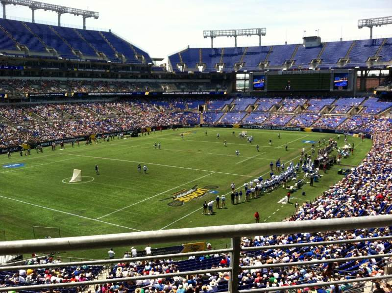 Seating view for M&T Bank Stadium Section 208 Row 2 Seat 2